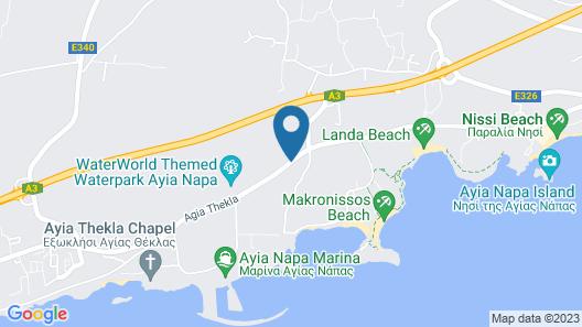 Loutsiana Hotel Apts Map