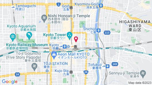 Mitsui Garden Hotel Kyoto Station Map