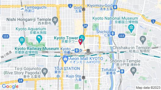 Hotel Hokke Club Kyoto Map
