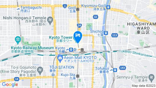 Hotel Granvia Kyoto Map