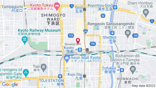 Hotel New Hankyu Kyoto Map