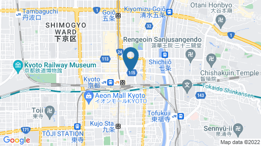 Dormy Inn Premium Kyoto Ekimae Natural Hot Spring Map