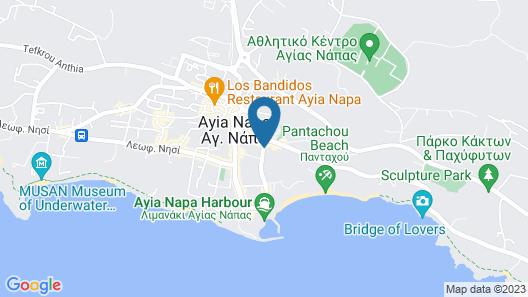 Gaia Sun N Blue Hotel Map