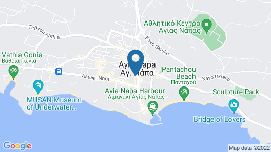 Napa Plaza Hotel-Adults Only Map