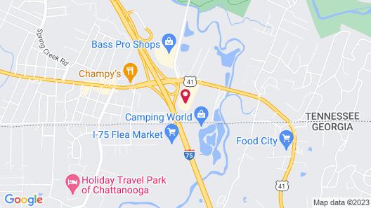 Hotel Chattanooga East Ridge Map