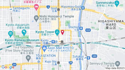 APA Hotel Kyoto Ekihigashi Map
