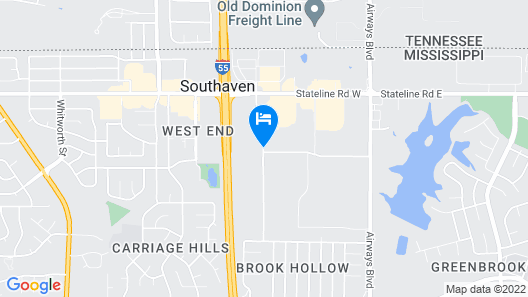 Super 8 by Wyndham Southaven Map