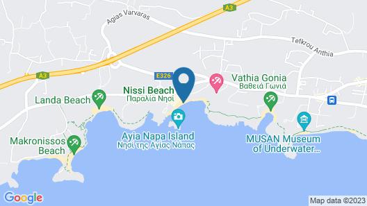 Nissi Beach - Schöne Ecke Penthouse-wohnung Map