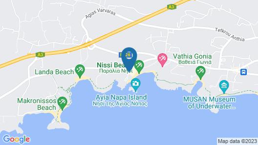 Vassos Nissi Plage Hotel & Spa Map