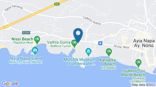 Tasia Maris Beach Hotel and Spa - Adults Only Map