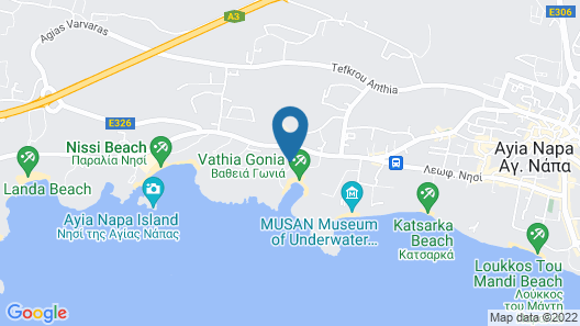 Pavlo Napa Beach Hotel Map