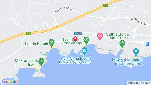 Adams Beach Hotel & Spa Map