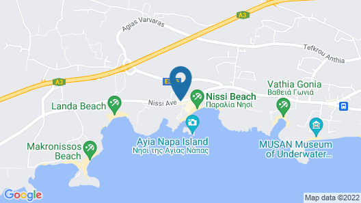 Adams Beach Hotel & Spa Deluxe Wing – Adults Only Map