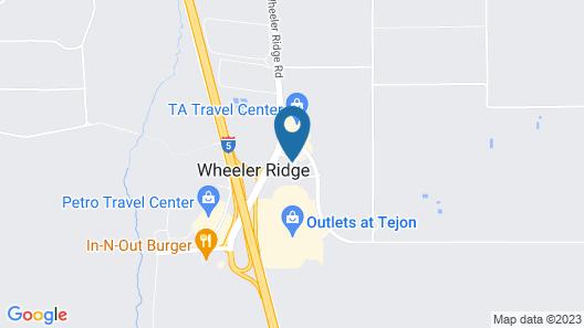 Hampton Inn Arvin Tejon Ranch, CA Map