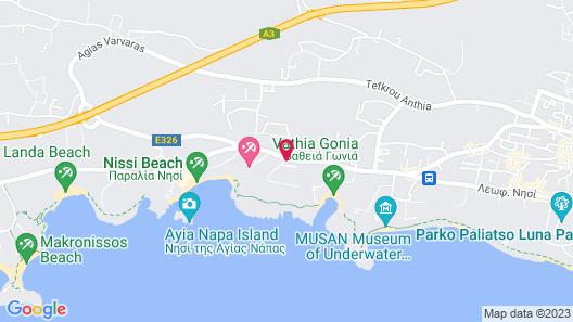 Nissiblu Beach Resort Map