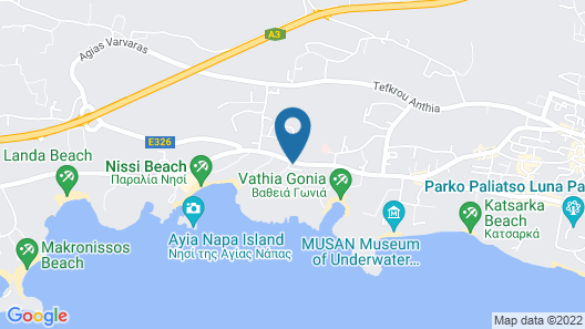 Nissiblu Beach Resort Map