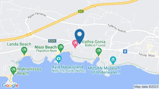 Nissi Beach Resort Map