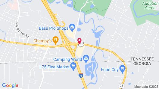 Econo Lodge East Ridge Map