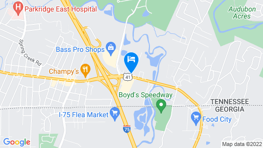 Motel 6 East Ridge, TN Map