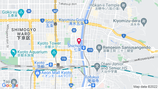 K's Villa Kamogawa and Matsumi Map