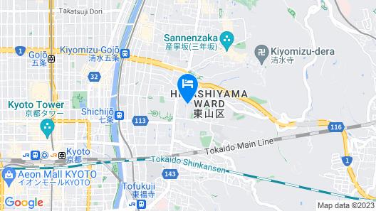 Four Seasons Hotel Kyoto Map