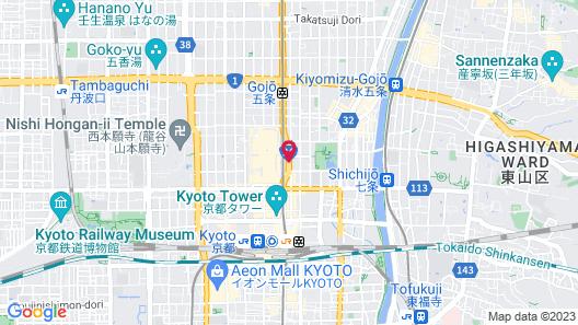 Hotel Kuu Kyoto Map