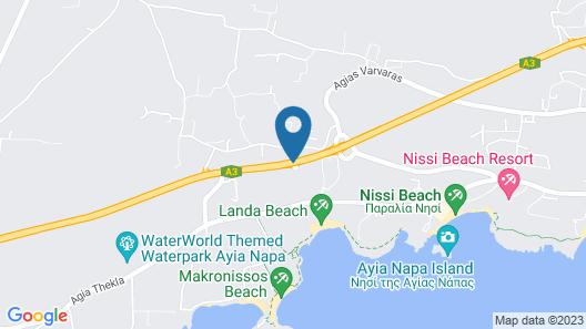 Olympic Lagoon Resort Ayia Napa Map