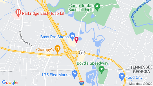Hampton Inn Chattanooga East Ridge, TN Map