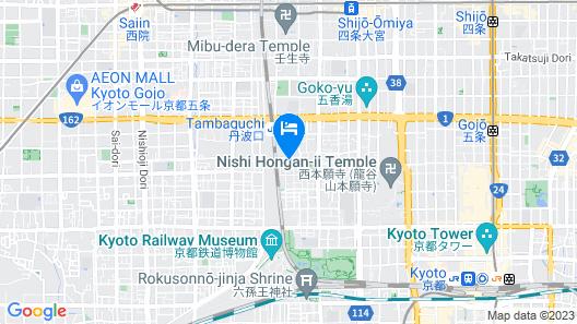 FUGASTAY Kyoto Gojo Map