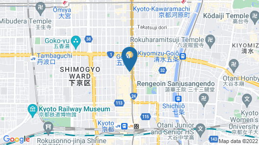 Hotel Kanra Kyoto Map