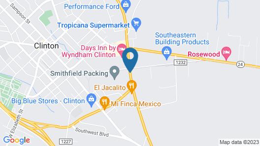 Days Inn by Wyndham Clinton Map
