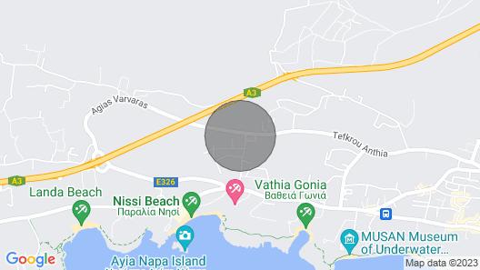 Villa Tegan, Luxury 4bdr Ayia Napa Villa With Private Pool, Close to Nissi Beach Map