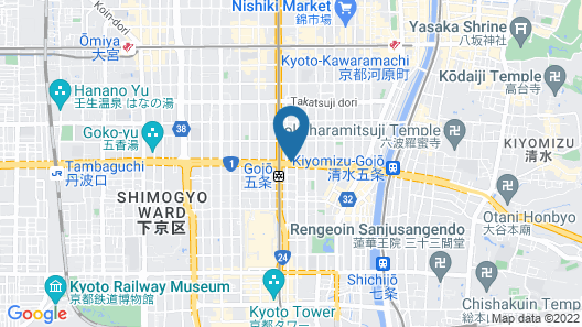 Citadines Karasuma-Gojo Kyoto Map