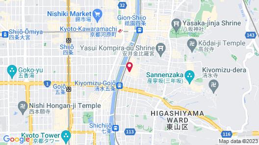 Miyagawacho Hanakanzashi- Hostel Map