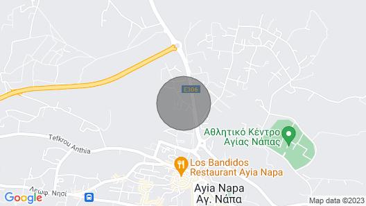 Roberta - 3bed Bend New Villa Walking Distance to Ayia Napa Center Map