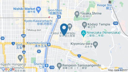 HOTEL THE CELESTINE KYOTO GION Map