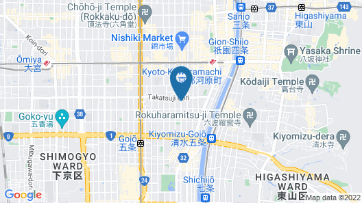 THE GENERAL KYOTO Takatsuji Tominokoji Map