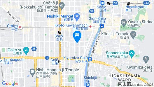 THE GENERAL KYOTO Takatsuji Tominokoji Map
