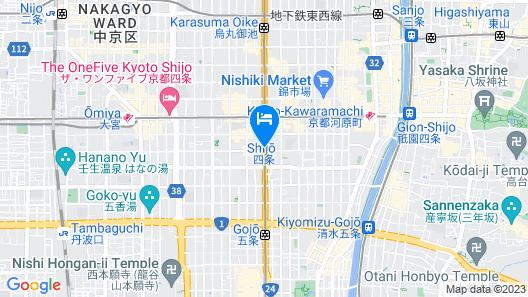 The Royal Park Hotel Kyoto Shijo Map