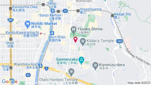 Kyoto Ryokan SAKANOUE Map