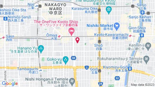 ORI Kyoto Hotel Map