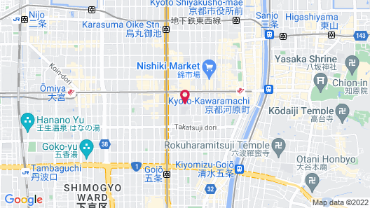 Capsule Hotel Anshin Oyado Premier Kyoto Shijo Karasuma Map