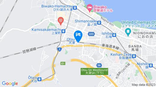 Hotel Tetora Otsu Kyoto Map