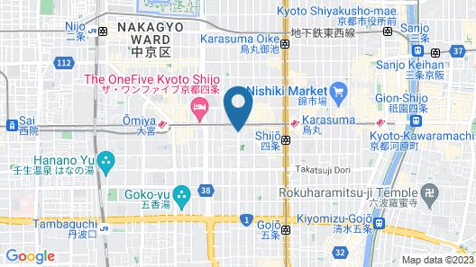 Mitsui Garden Hotel Kyoto Shijo Map