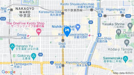 Hotel M's Est Shijo-Karasuma Map
