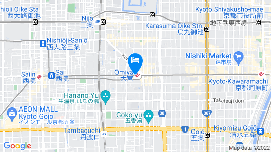 Hotel M's Plus Shijo-Omiya Map