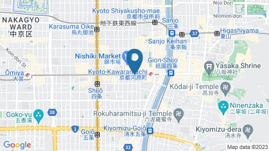 Hotel Grand Bach Select Kyoto Map