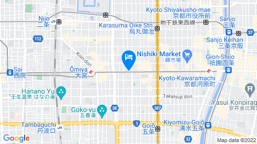 Hotel MyStays Kyoto-Shijo Map