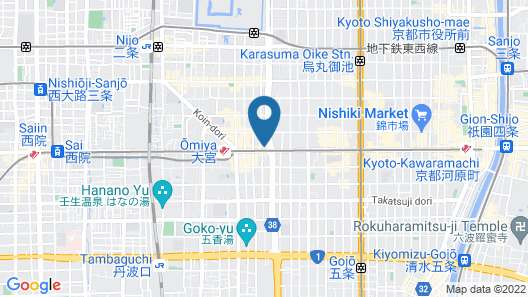 The OneFive Kyoto Shijo Map