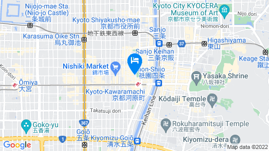 Super Hotel Kyoto Shijyo Kawaramachi Map